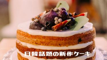 日韓話題の新作ケーキ