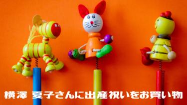 芸人ニューヨークが同期で仲良しの横澤 夏子さんに出産祝いをお買い物